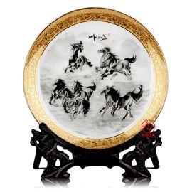 聚会礼品纪念盘 陶瓷盘定做加照片