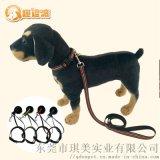 趣逗派宠物用品定制厂家宠物反光狗链两件套