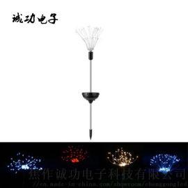 厂家直销铜线灯串120灯太阳能八功能地插烟花灯