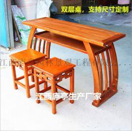 南京国学桌厂家 国学文化桌实木国学桌学校书法桌椅