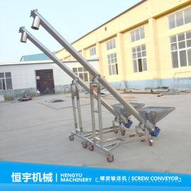 米粉不堵料螺旋上料机,160型圆管螺旋提升机