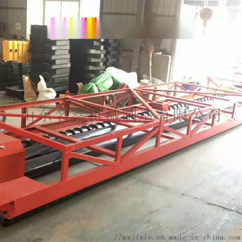 广场整平三滚轴摊铺机 槽钢材质路面摊铺机