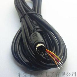 MINI DIN S端子連接音頻線 PS鼠標鍵盤線