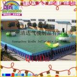 大型支架水池 手搖船水池 大型充氣游泳池 支架式泳池戶外 水上游泳樂園鋼管水池