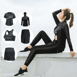 秋冬新款瑜伽服套装女速干衣 时尚显瘦专业跑步运动服