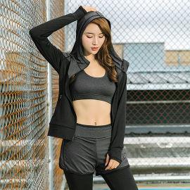 健身房速干瑜伽服女 性感时尚显瘦户 外跑步运动套装