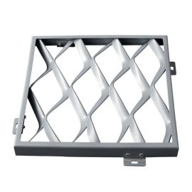 鋁網板廠家直營定制鋁拉網鋁單板天花網格天花裝飾材料