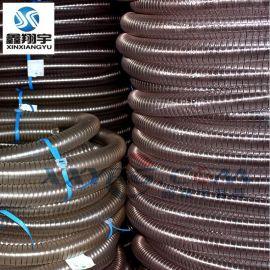 pu钢丝软管/镀铜钢丝伸缩管/耐磨防静电吸尘软管/印刷机风管55mm