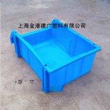 廠家直銷 A5#410*271*172貨架塑料整理箱 立柱鏡片斜口組合零件