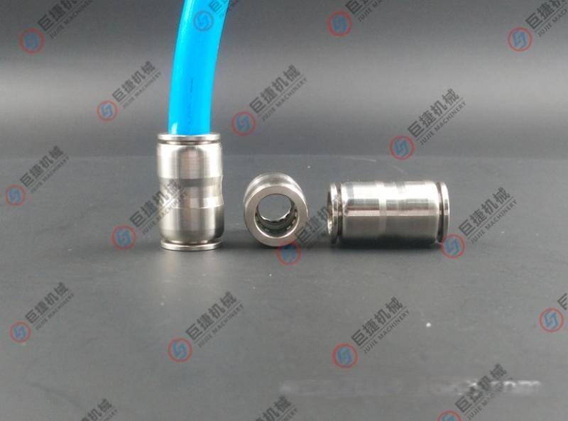 高品质不锈钢快插气源接头4-16mm 304不锈钢快插直通 PU快插直通