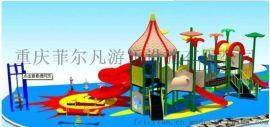 重庆公园滑梯生产厂家,木质滑梯,幼儿园滑滑梯生产流程