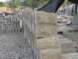 外墙黄色文化石厂家芝麻黄蘑菇石|黄色文化砖