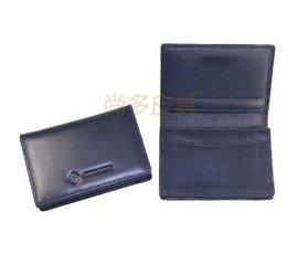 尚多皮具厂PIXIU生产定做黑色真皮名片包名片夹卡包卡夹
