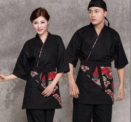 **酒店装餐饮厨师工作服韩式餐厅服务员服套装服装