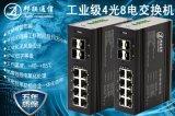 工業級千兆4光8電環網型光纖交換機