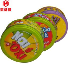 TOY玩具礼品小铁盒 圆形糖果儿童车仔包装铁罐