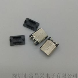 USB 3.1 TYPE-C 180度立式直插短款母座24PIN type-c连接器