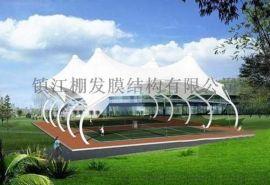 直销高质量园区膜结构景观棚膜结构看台大型体育场