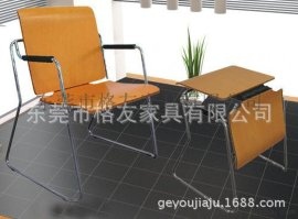 木面桌椅两用多功能椅,木面折叠会议椅