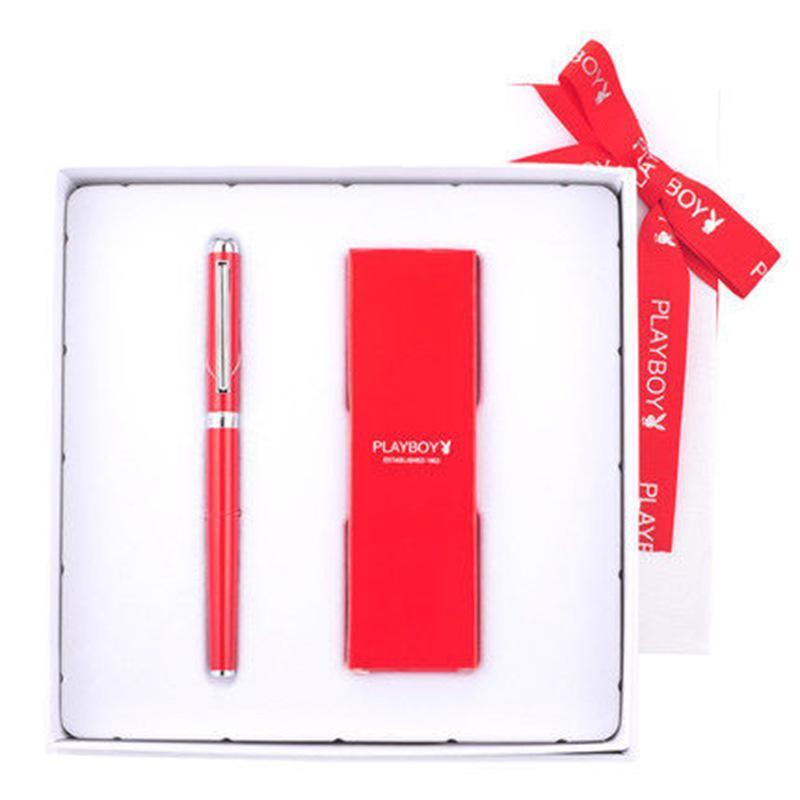**签字笔魅影女士中性笔金属宝珠笔商务定制刻字礼品装