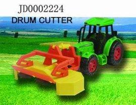 玩具-惯性农夫车加前收割机(JD0002224)
