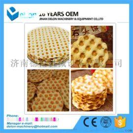 机器石头饼自动化流水线 陕北特色休闲小零食生产线