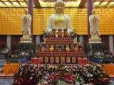 寺院铝合金千佛佛龛,牌位架莲花牌位架