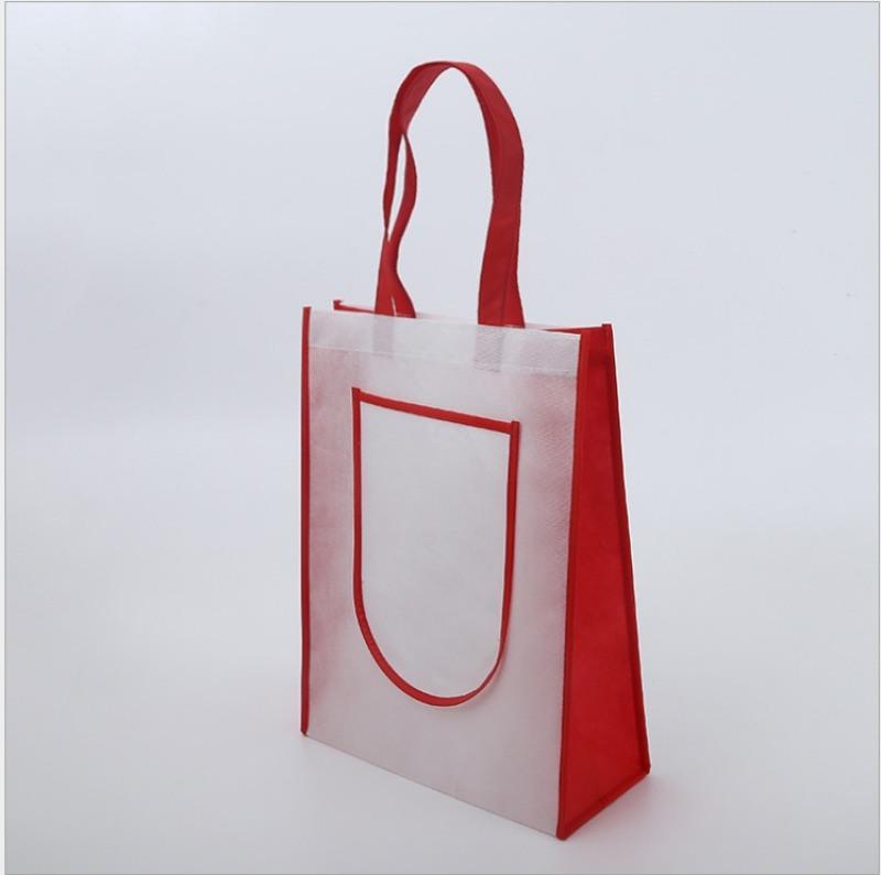 定做无纺布袋 广告环保购物袋平口覆膜袋 手提袋订做