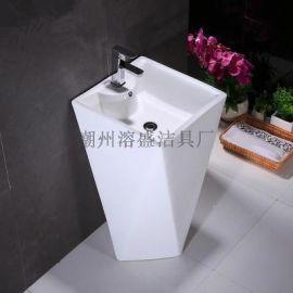陶瓷立柱盆卫生间一体成型立柱盆钻石大柱盆