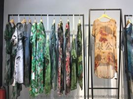 时尚高端品牌白沙女桑蚕丝连衣裙折扣女装尾货货源