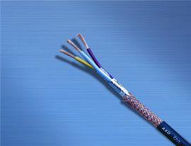 讯道屏蔽线4芯0.3电线电子线信号线电源线RVVP4X0.3黑色百米