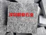 深圳石材花岗岩白麻火烧板石材-台阶石-踏步石块