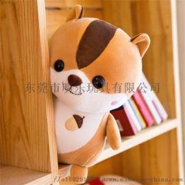 毛絨玩具定制可愛小熊抖音同款創意搞怪毛絨玩具