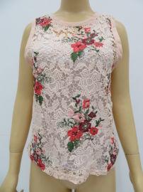 女士钩花缕空透视网衬衫,薄款缕空罩衫