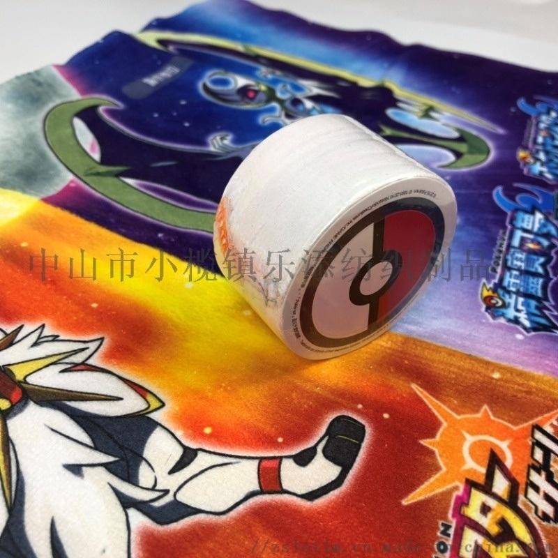 厂家订制数码印压缩毛巾 超细纤维热转印方巾压缩巾