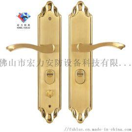 宏力锁厂直销昆明市防盗门执手锁,智能指纹锁