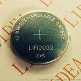 3.6V扣式锂离子电池LIR2032纽扣电池
