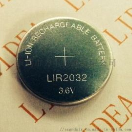 3.6V扣式 离子电池LIR2032纽扣电池