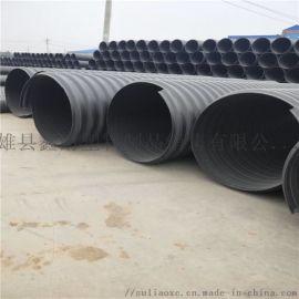 雄安新区PE排水波纹管 HDPE钢带管厂家今日报价