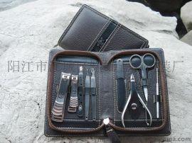 厂家    9件不锈钢美甲套装 指甲剪 眉夹 剪刀