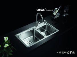 SINOS/赛诺思 C828 7843 水槽双槽 SUS304 洗菜盆 钢盆 手工槽 手工水槽