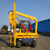 小型輪式打樁機價格 立柱護欄打樁機 簡易護欄打樁機