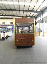 厂家直销新款多功能电动四轮餐车