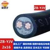 金环宇电缆 国标 阻燃yjv电缆 ZB-YJV 2X16平方 铜芯电力电缆