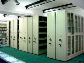 供应电子产品精密配件仓库密集架/移动柜,移动式货架