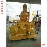 大型铜雕文殊普贤菩萨坐像纯铜文殊普贤菩萨铜工艺品厂