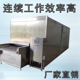 大型连续式水果片蔬菜速冻冷冻机 网带式速冻流水线