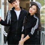 情侣装春季外套韩版加绒运动棒球服卫衣厚男女学生班服订做LOGO