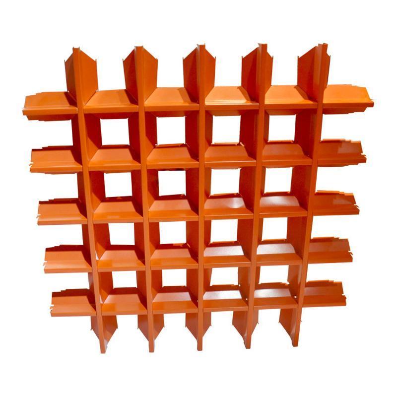 厂家定制 碳铝格栅装饰吊顶木纹铝格栅规格定制