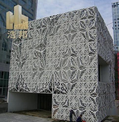 焊接弧型铝单板